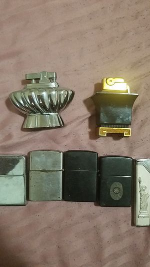 Antique table top lighters and zippos for Sale in Willoughby, OH