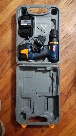 RYOBI 7.5 VOLT CORDLESS DRILL WITH BATTERY, CHARGER, AND PROTECTIVE CARRYING CASE for Sale in West Columbia, SC