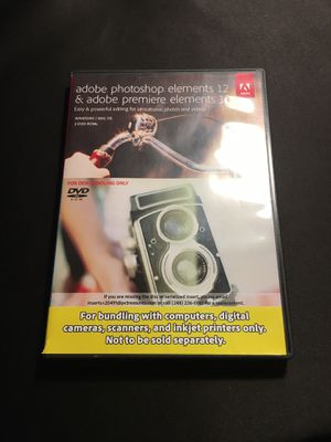 Adobe photoshop elements12 & premiere elements 12 for Sale in Exeter, NH