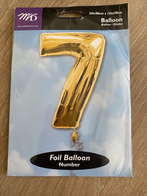 Four gold foil balloons, each size is 34 inches tall and 15 inches wide for Sale in Germantown, MD