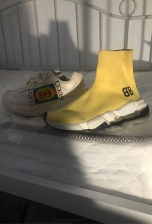 Gucci sneakers , balenciagas , off white air max for Sale in Victorville, CA