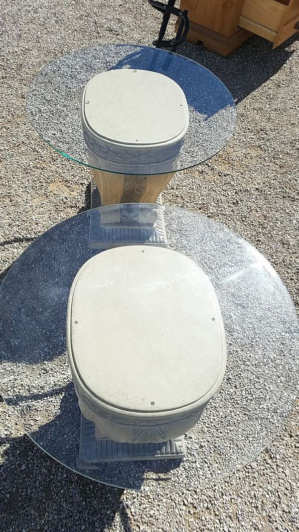 Two Tables with Glass Tops