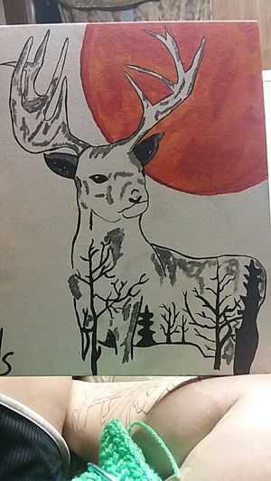 Deer forest painting for Sale in West Monroe, LA