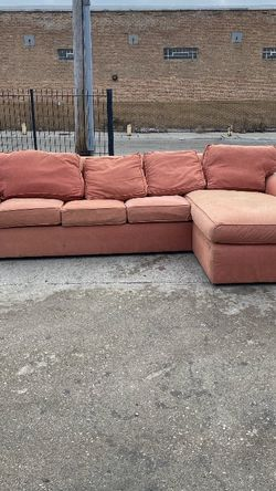 Orange Sectional With Pullout Bed for Sale in Chicago,  IL