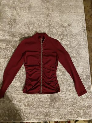 Burgundy zipper jacket for Sale in Guerneville, CA