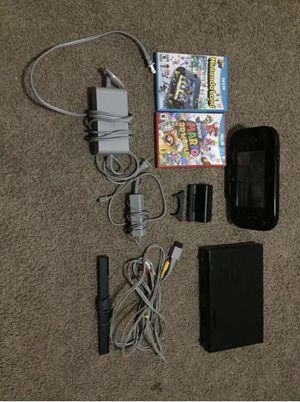 Nintendo Wii U 32 GB Black Bundle System for Sale in Glendale, CA