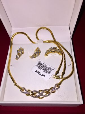 *NWT* 1/2 Ct Diamond 3-Piece Set - Yellow Gold Over Brass for Sale in Phoenix, AZ
