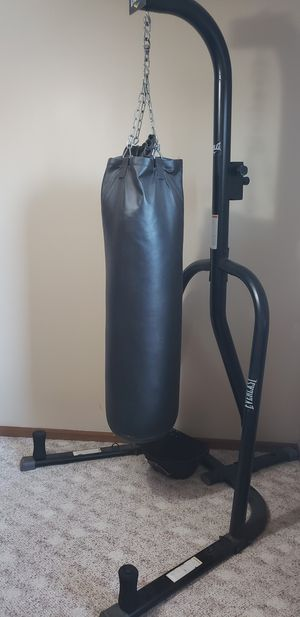 Everlast punching bag with stand for Sale in Mundelein, IL