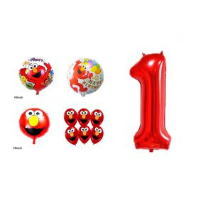 Elmo Sesame Street 11pcs Foil/Latex Balloons. for Sale in Alhambra, CA