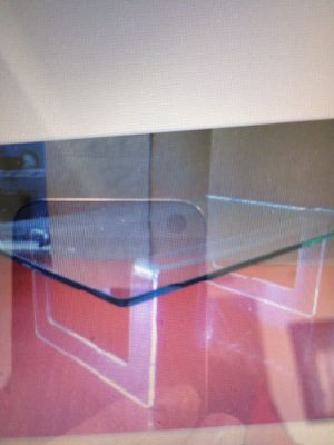 Lucite base glass top coffee table for Sale in Miami, FL