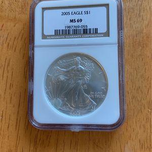 2005 American Silver Eagle MS 69 for Sale in Elma, WA