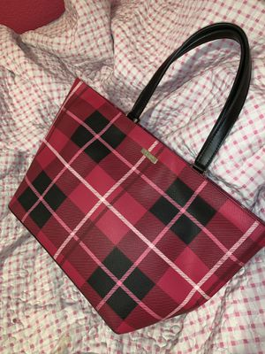 Large pink plaid Kate spade ♠️ purse for Sale in Fresno, CA