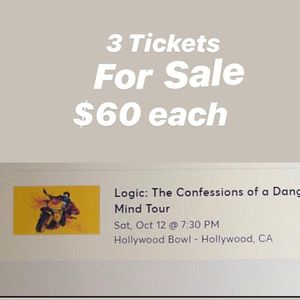 3 Logic Concert Tickets 10/12/19 for Sale in Chino, CA