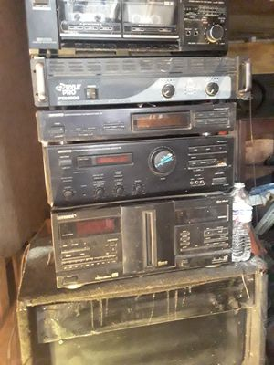 Stereo Entertainment System receiver and receiver 15 inch speakers for Sale in Fresno, CA