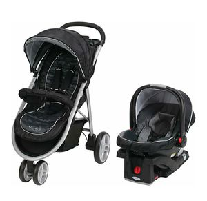 Graco Aire3 Click Connect 3-Wheel Stroller Travel System (Stroller, Car Seat & Base) for Sale in Milpitas, CA