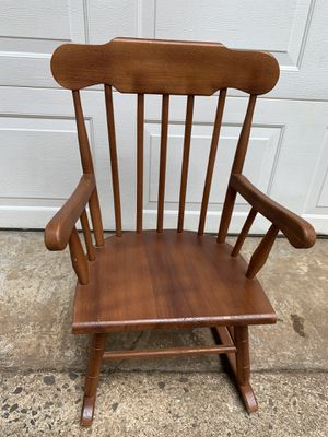 Kid's rocking chair wooden brown for Sale in Charlotte, NC