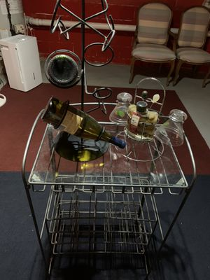 Wine rack and bar stools (2) for Sale in South Brunswick Township, NJ