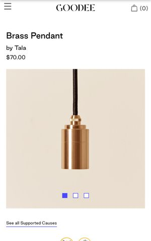 New tala brass pendent for Sale in New York, NY