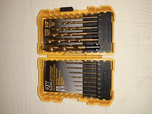 DeWalt 1/2 inch titanium drill bit set 15-piece for Sale in Denver, CO