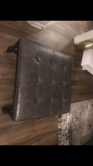 Leather ottoman for Sale in Denver, CO