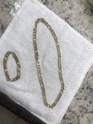 Gold necklace and bracelet for men for Sale in Bondurant, IA