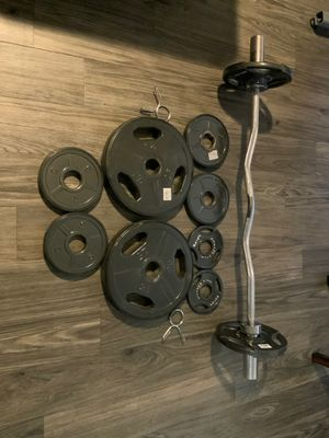 Weights with curl bar for Sale in Scottsdale, AZ