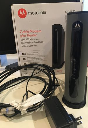 Motorola MG7550 Cable Modem plus Router for Sale in Kirkland, WA