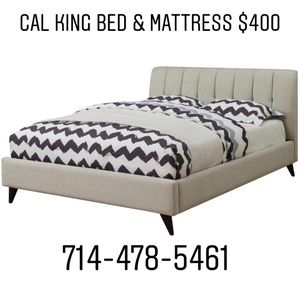 CAL KING BED & Mattress for Sale in Anaheim, CA