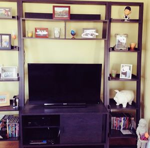 Crate & Barrel Media Center with bookshelves for Sale in East Providence, RI