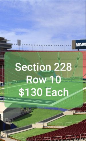 Rams vs. Bears Tickets * Sunday Night Football * Nov 17th @ 5:20PM for Sale in Brea, CA