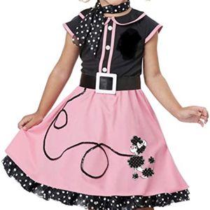 50's Poodle Dress - Pink/Black - Child's Size 8/9 - $12 for Sale in Scottsdale, AZ