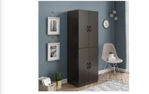 Brown Cabinet Multi Door Mini Closet for Sale in Fort Worth, TX