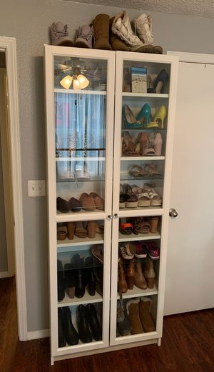 Bookcase with glass doors for Sale in Denver, CO