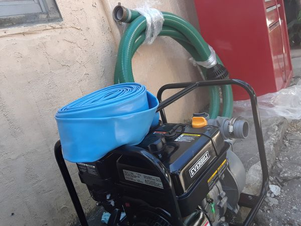 5.5 HP Pump.water. almost new conditions works great with 3 hose incluid free.