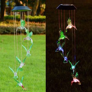 New in box $10 Solar Color Changing LED Hummingbird Wind Chimes Home Garden Decor Light Lamp for Sale in Pico Rivera, CA