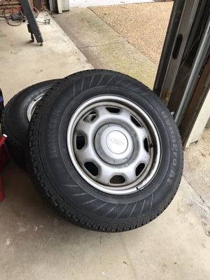 17 inch tires wheels caps and Lugnuts off of F150 for Sale in Virginia Beach, VA