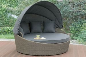 Gray PE Resin Wicker Lounge OUTDOOR DAY BED PATIO POOL SIDE FURNITURE for Sale in San Diego, CA