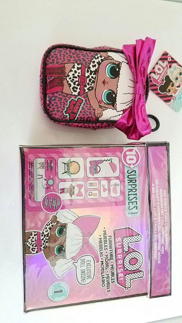 New L.O.l surprise furniture with Diva doll and Diva backpack clip