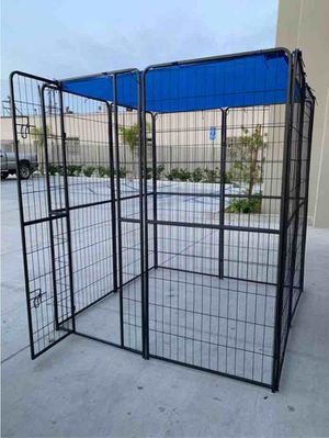 New 72 inch tall x 32 inches wide each panel x 8 panels heavy duty exercise playpen with sun shade tarp cover fence safety gate dog cage crate kennel for Sale in West Covina, CA