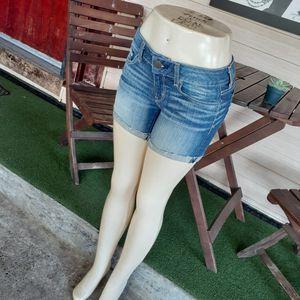 American Eagle Stretch Raw Hem Denim Shorts Size 4 for Sale in Sacramento, CA