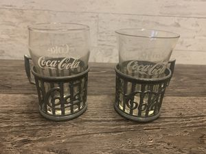 1985 Vintage Coca Cola Pewter Soda Fountain Glass Holders for Sale in Rushville, OH