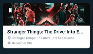 Stranger things drive into experience ticket for Sale in Commerce, CA