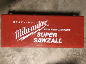 MILWAUKEE SUPER SAWZALL with METAL CASE and tons of BLADES for Sale in Phoenix, AZ