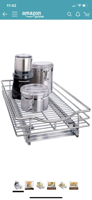 """Lynk Professional 401121 Organizer Pull Out Under Cabinet Sliding Shelf, 11"""" W x 21"""" D, Chrome for Sale in Tigard, OR"""