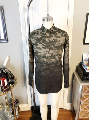 New! Men's Camo George slim fit shirt size Large. Dip Dye Woven for Sale in Washington, DC