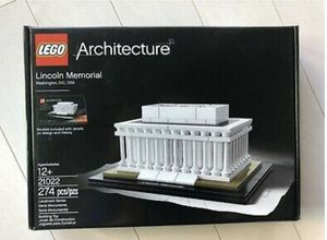 Brand new sealed never opened mint Lego architecture lincoln memorial see pictures pick up in (Fontana) for Sale in Fontana, CA