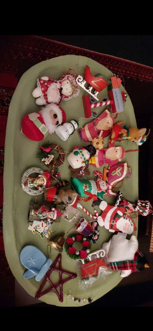 Lot of 27 Vintage Christmas Decorations Hong Kong, Hallmark, Fused Glass, & Others for Sale in Tacoma, WA