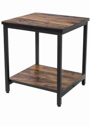 Brand New, bought off amazon, not what I expected, End Table, 2 Tier Side Table with Storage Shelf and Adjustable Table Leg, Rustic Night Stand for S for Sale in Arnold, MO