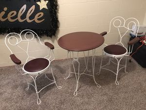 Antique ice cream bistro set for Sale in Hopewell Junction, NY