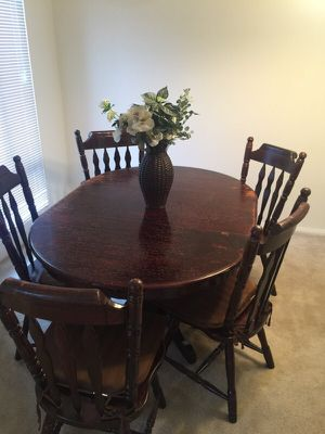 Dining room table - Cherry Oak Wood for Sale in Fairfax, VA